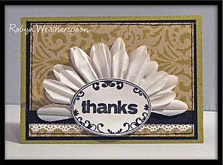 ST Card Kit Flowered Thanks Card