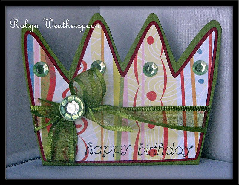 ST August Crown Card