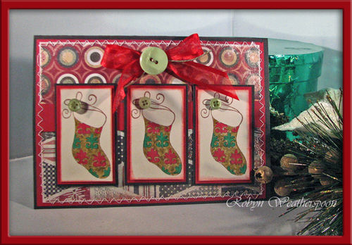 USC Christmas Stockings Card