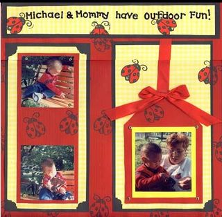 Michael and Mommy Outdoor Fun