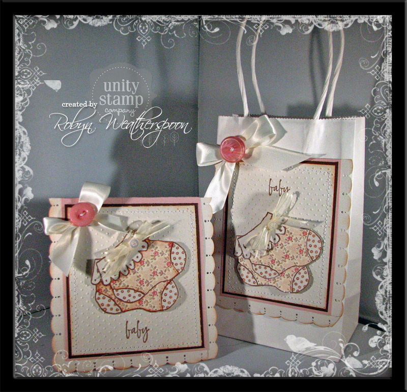 USC Baby Booties Card and Gift Bag