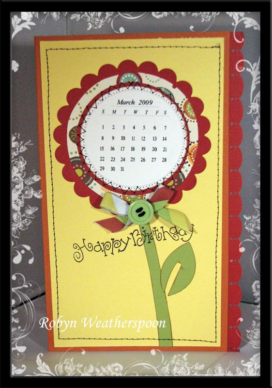 ST Happy Birthday Calender Card