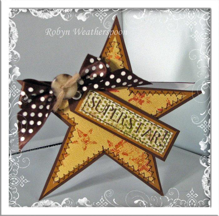 CC Superstar Shape Card