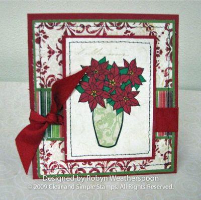 CSS Christmas Poinettia Card